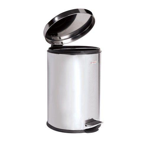 """Ведро-контейнер для мусора (урна) с педалью LAIMA """"Classic"""", 12 л, зеркальное, нержавеющая сталь, со съемным внутренним ведром, 232261"""